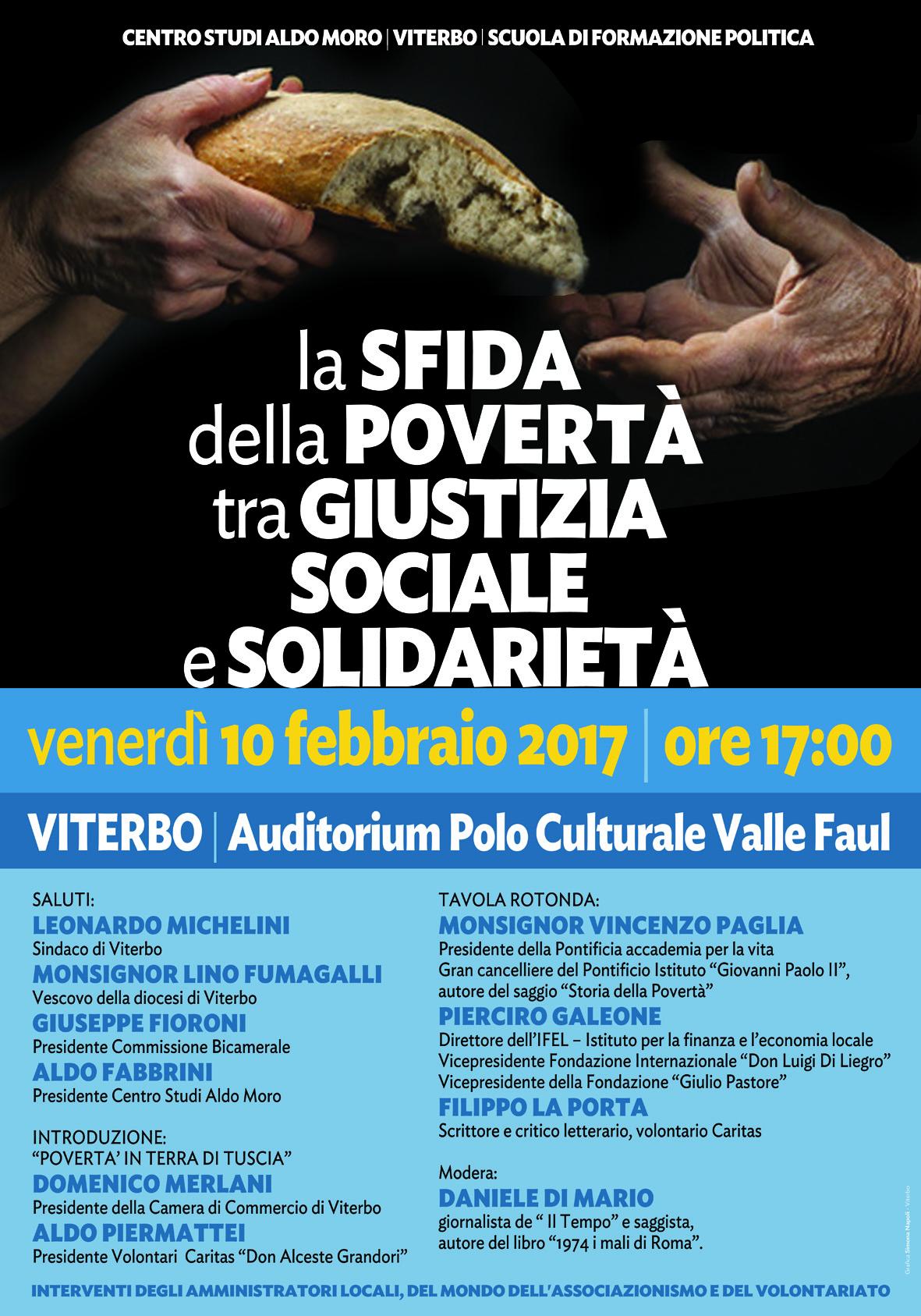 La sfida della povertà tra giustizia sociale e solidarietà. Convegno a Viterbo il 10 febbraio