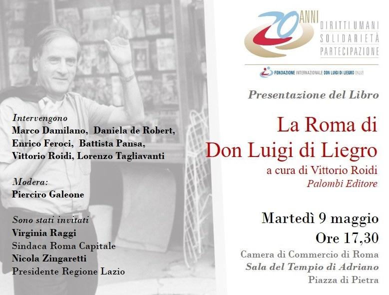 """9 maggio 2017. Presentazione del libro """"La Roma di Don Luigi Di Liegro"""""""