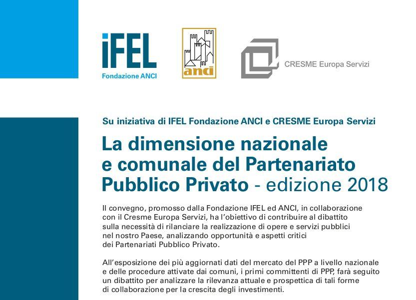 3 ottobre a Roma: La dimensione nazionale e comunale del Partenariato Pubblico Privato