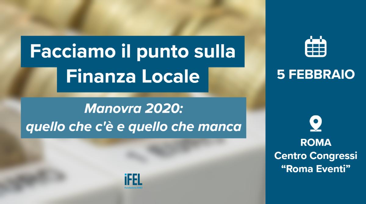 5 febbraio a Roma: convegno IFEL per fare il punto sulla Manovra 2020