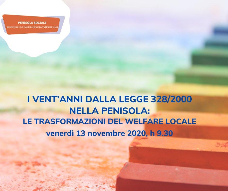 I vent'anni dalla legge 328/2000 nella penisola: le trasformazioni del welfare locale – Convegno nazionale il 13 novembre
